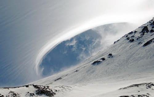 Vortex Shedding on Mt Shasta