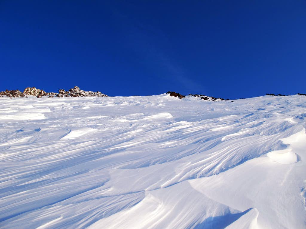 High on the Bolam Glacier