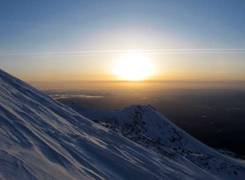 Sunset High on the Bolam Glacier