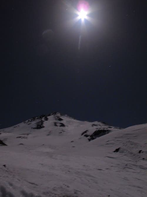 Mt Shasta\'s North Side at Night
