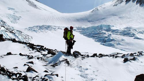 Reaching the Whitney Glacier