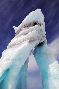 The Ice Arch in the 2nd Icefall on the Whitney Glacier
