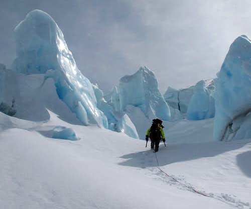 Inside the 2nd Icefall on the Whitney Glacier