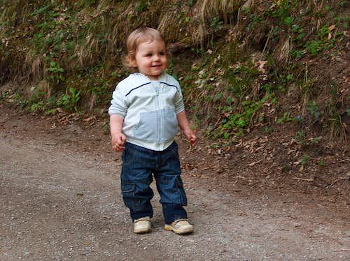 Nicolas on the Raab river trail