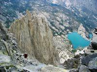 Josh Higgins near the summit...