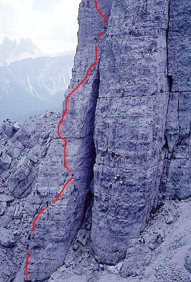 Torre Lusy, North Face Route