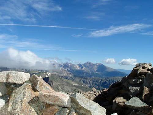 Long's Peak from Mt Audubon...