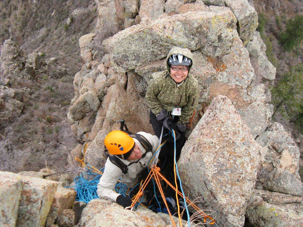 Chillin' at the 2nd Belay