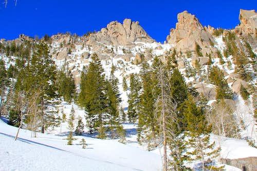 North aspect, Granite Peak.