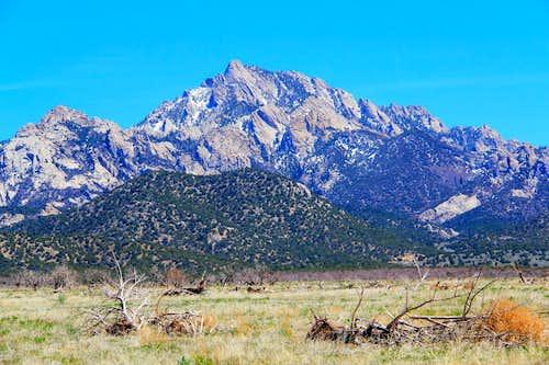 Granite Peak from the west.