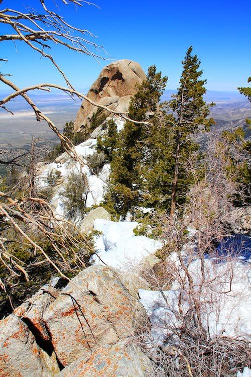 North west view, Granite summit.