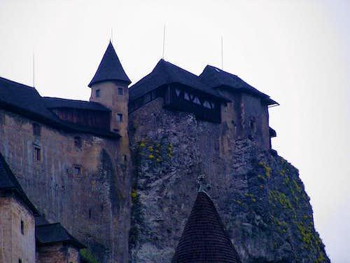 Oravský hrad from Oravski Podzamok