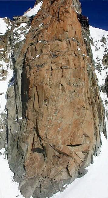 l'aiguille du Midi parete Sud...
