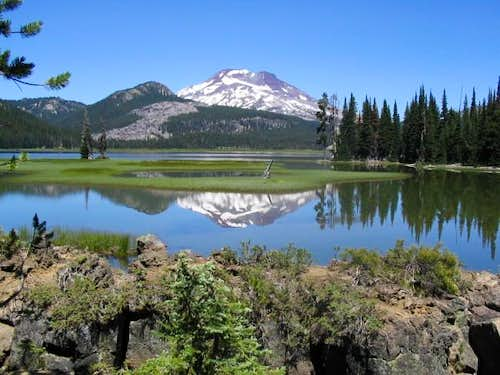 South Sister reflecting on...