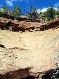 Hiking Up Slick Rock