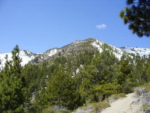 View to the rocky hills below Chocolate Peak.