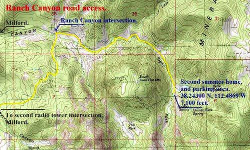 Ranch Canyon road access.