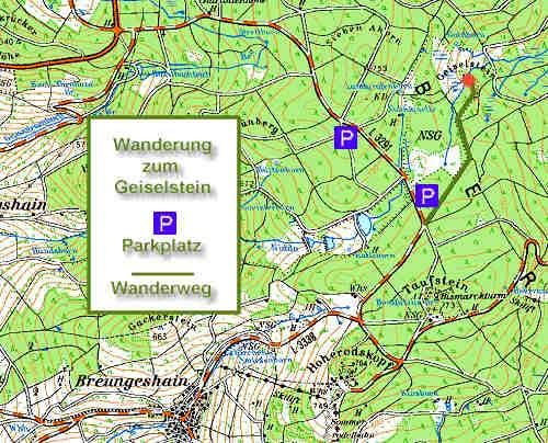 Geiselstein Trail Map