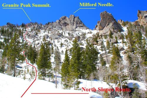 North Slopes route, upper portion.