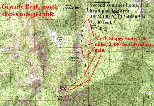North Slopes route topographic.