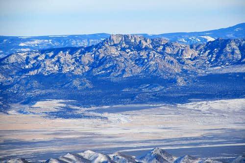 Granite Peak from Frisco Peak.