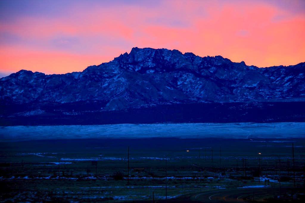 Early light over Granite Peak.