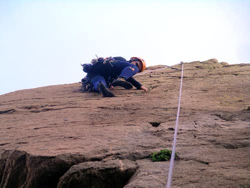 Thin Climbing on Dovercourt