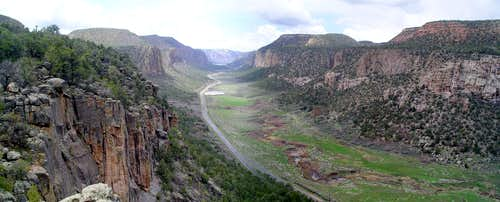 Unaweep Canyon from Quarry Wall