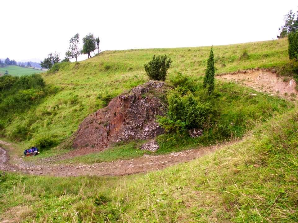 Basaltic outcrop...