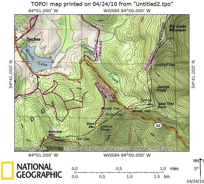 Black Mountain_Route Map