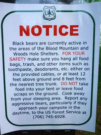 (P) Heed Forest Service bear warnings