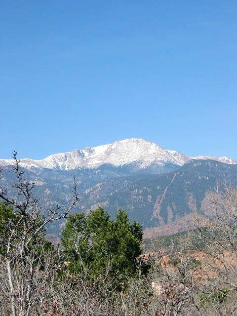 A nice view of Pikes Peak...