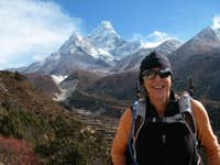 Me in front of the most beautiful mountain, Ama Dablam