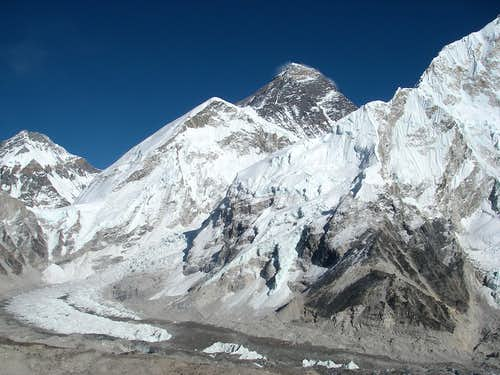 Everest summit as seen from Kala Patar