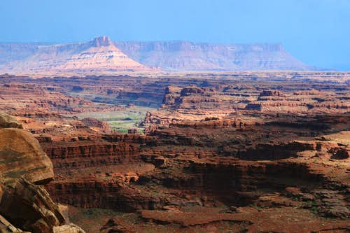 Looking Back at the Canyonlands Overlook