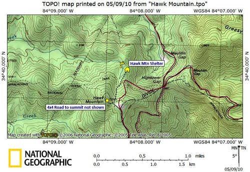 Hawk Mountain Route Map