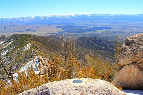 Summit view east.