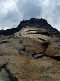 Looking up Tenaya Peak