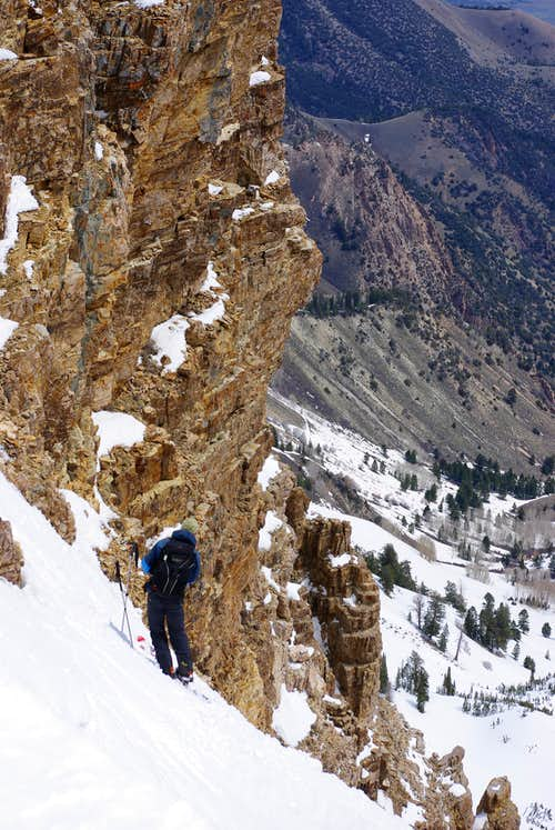 North Couloir of Deseret Peak