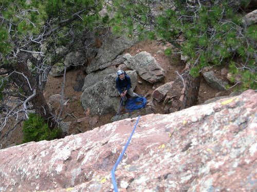Mike Belaying