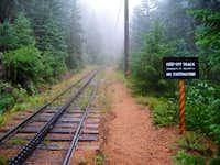 When you reach the railroad...