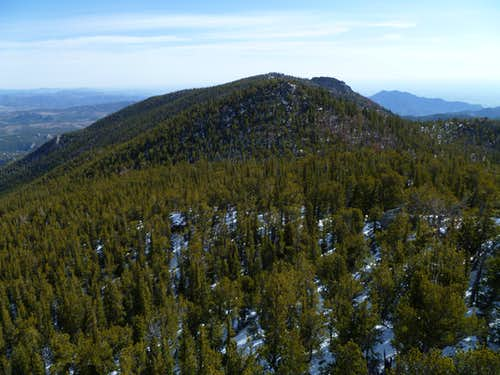 Starr Peak and Sheepshead from the summit of Thorodin Mountain