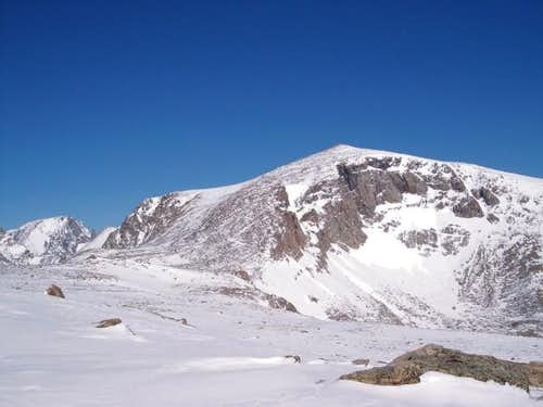 Looking North at the summit...