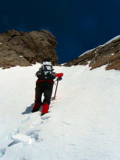 Ascending to the Summit Ridge