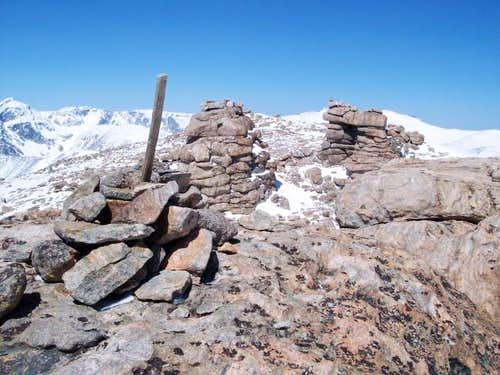 Gendarmes on the summit of...