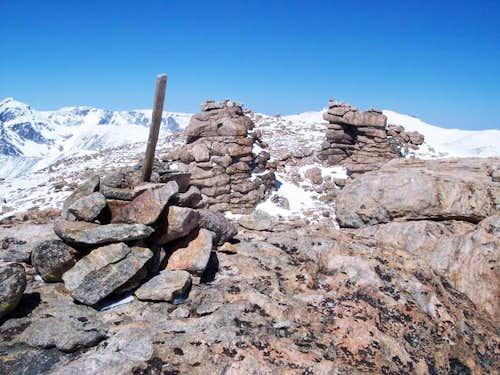 Gendarmes on the summit of...