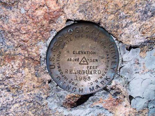 USGS benchmark on the summit...