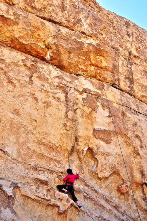 Climber on Big Moe
