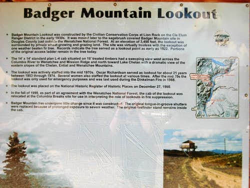 Badger Mountain Lookout