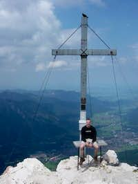 On top of the Alpspitz with...